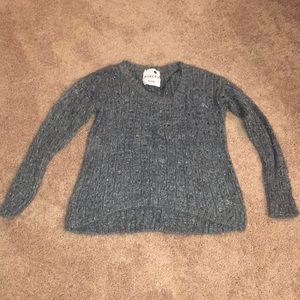 Gray soft sweater with tinsel